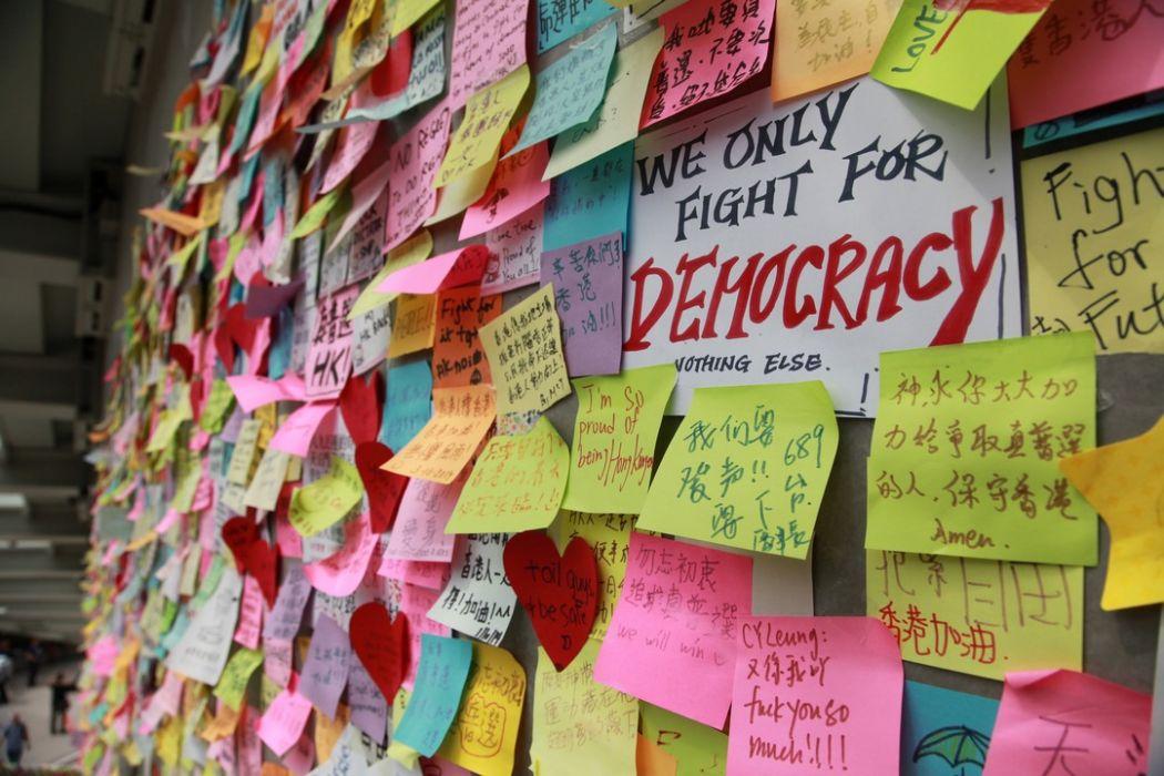 umbrella occupy movement 2014 democracy