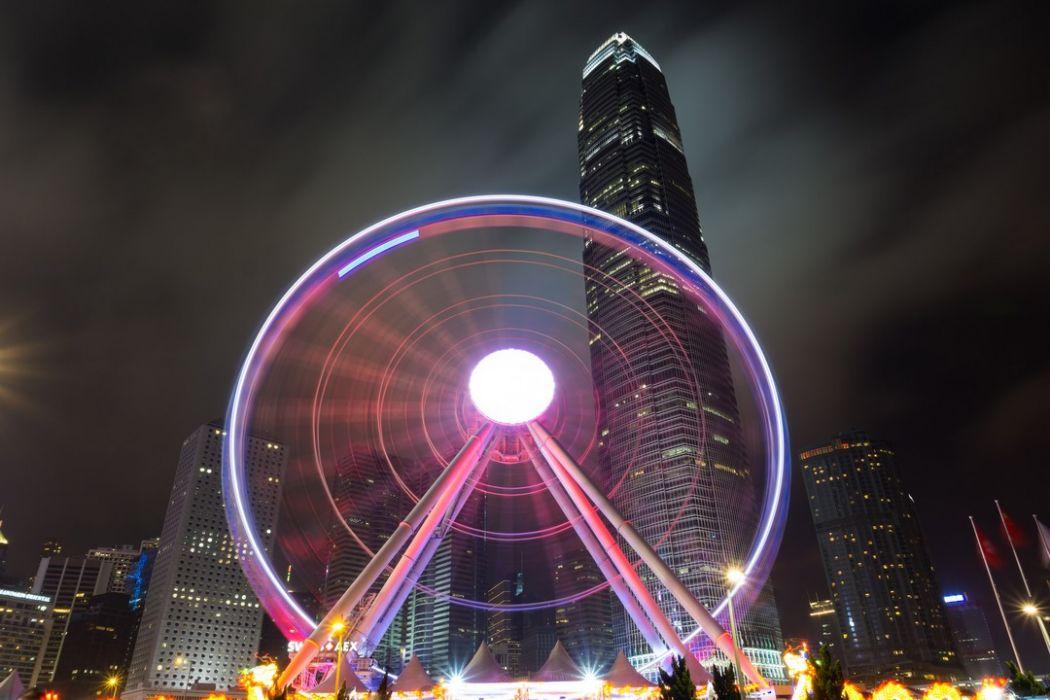 ferris big hong kong wheel observation night