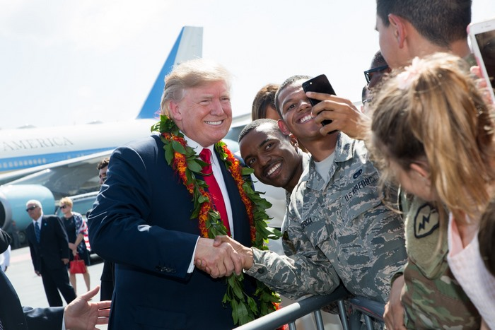 donald trump Yokota Air Base japan asia tour