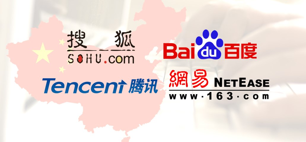 Baidu, Sohu, Tencent and Netease