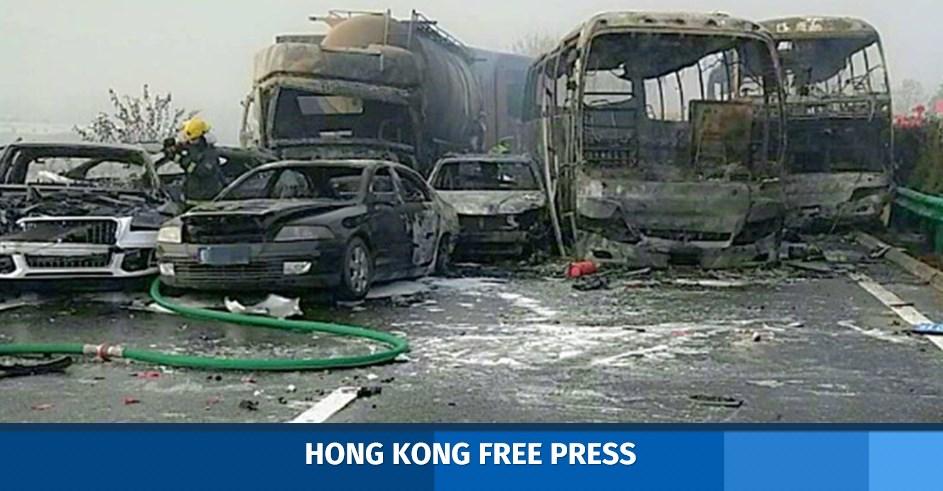 highway china pileup