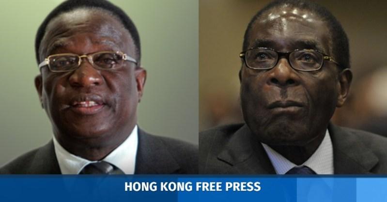Emmerson Mnangagwa and mugabe