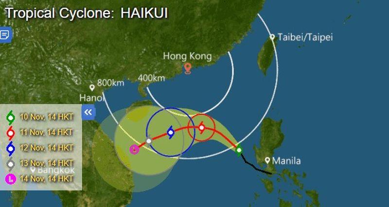 tropical cyclone Haikui