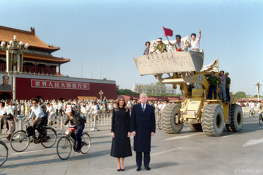 donald Trump in Beijing 1989 Tiananmen massacre