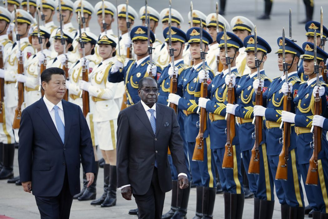Xi Jinping Robert Mugabe