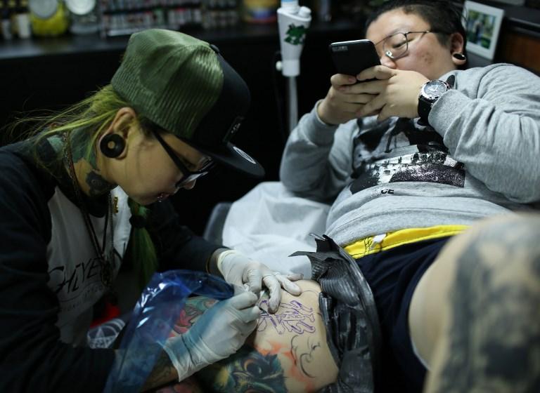 chinese women tattoo
