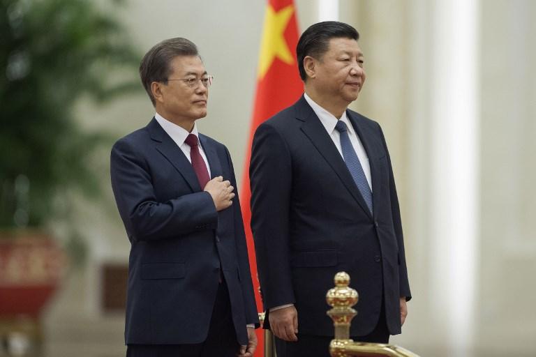 china south korea