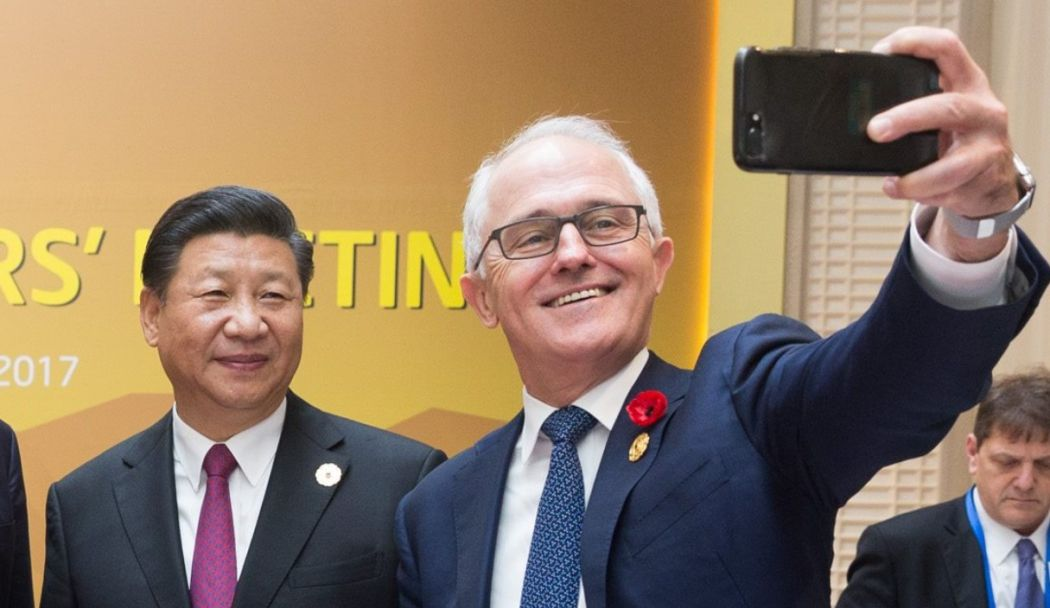 Xi Jinping and Malcolm Turnbull.