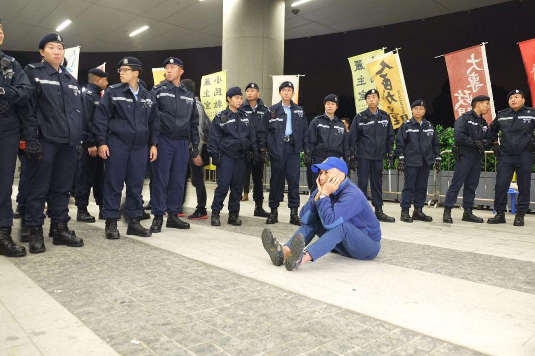 Police protester