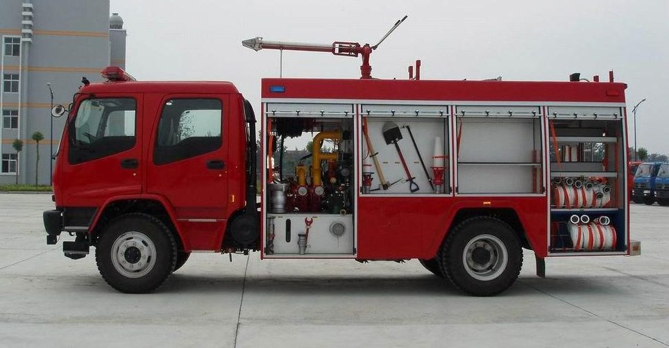 China Isuzu single axle foam fire truck