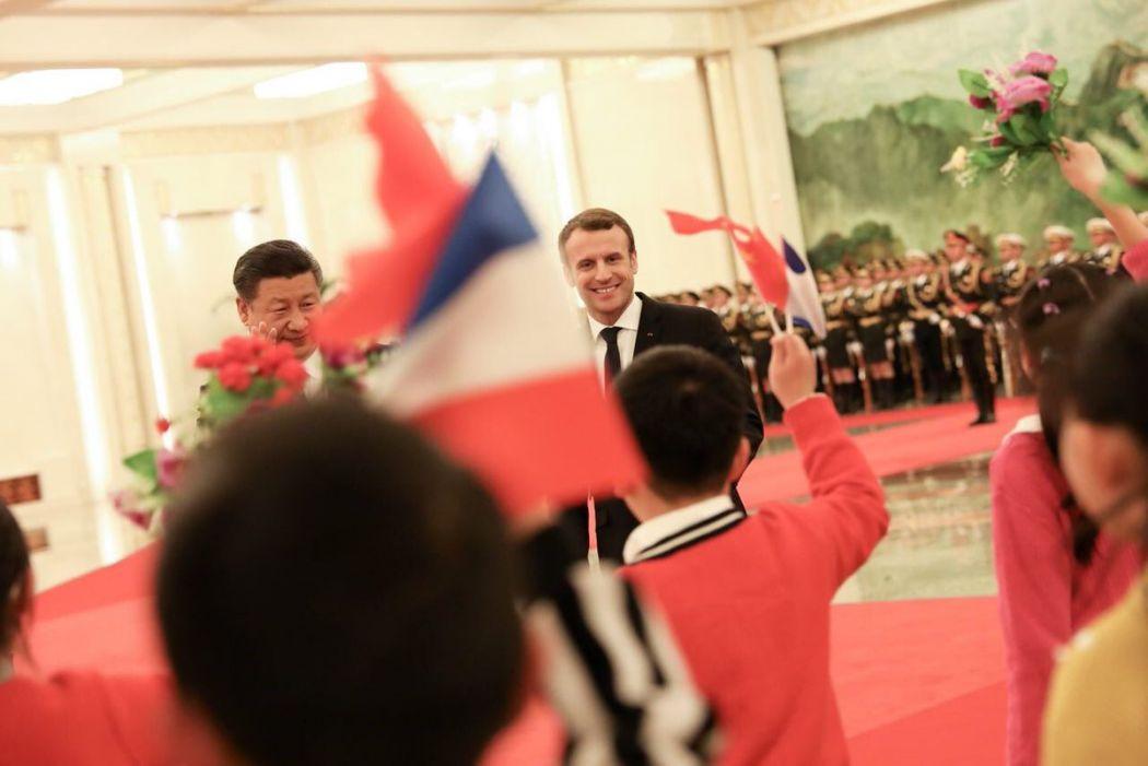 Emmanuel Macron xi jinping
