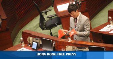 Cheng Chung-tai flag desecration