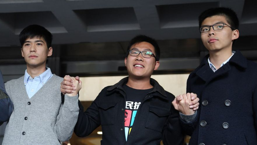 Hong Kong democracy activist Joshua Wong jailed for contempt