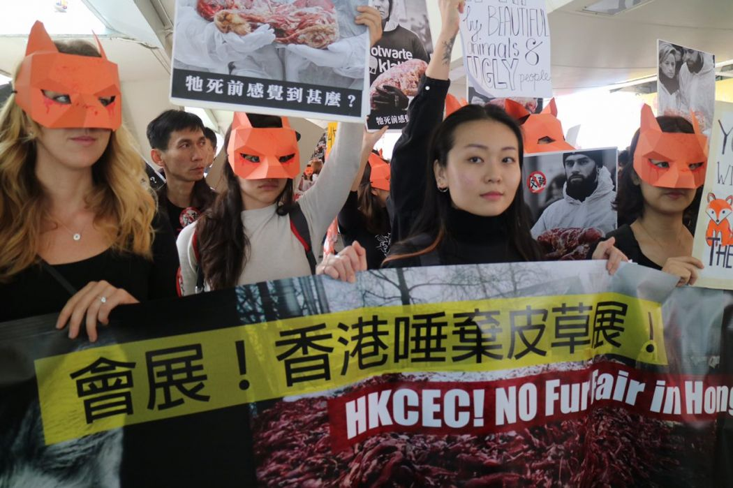 Fur Fair Hong Kong Protest