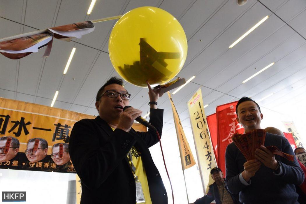 Tam Tak-chi budget 2018 paul chan protest