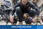 """Sausage Walk"" in Hong Kong"