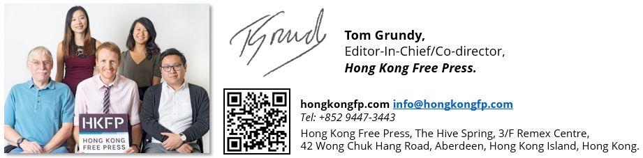 hong kong free press sign