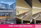 cross harbour tunnel elderly woman