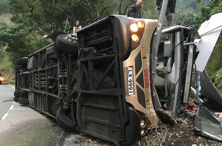 At least 18 killed as bus overturns in Hong Kong