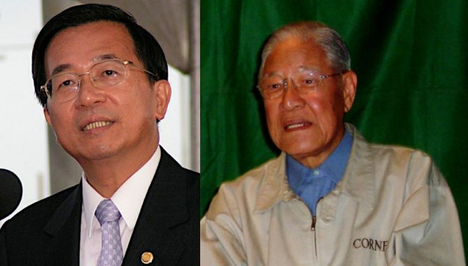 Chen Shui-bian and Lee Teng-hui.