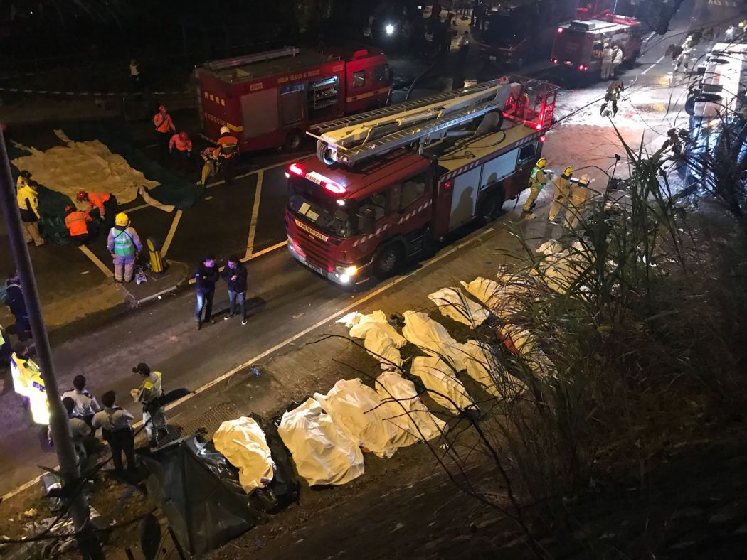 19 killed and 40 injured Hong Kong double-decker bus crash