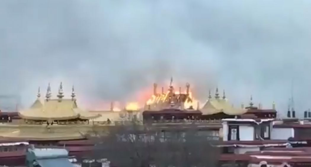 Sacred Tibetan monastery catches fire, no casualties