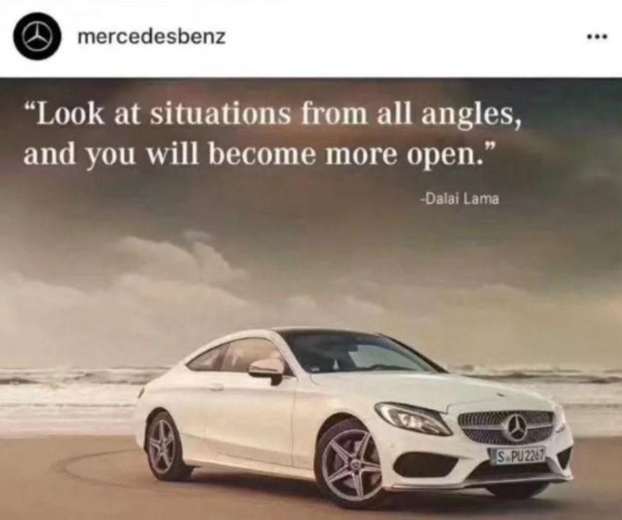 Mercedes Benz Dalai Lama