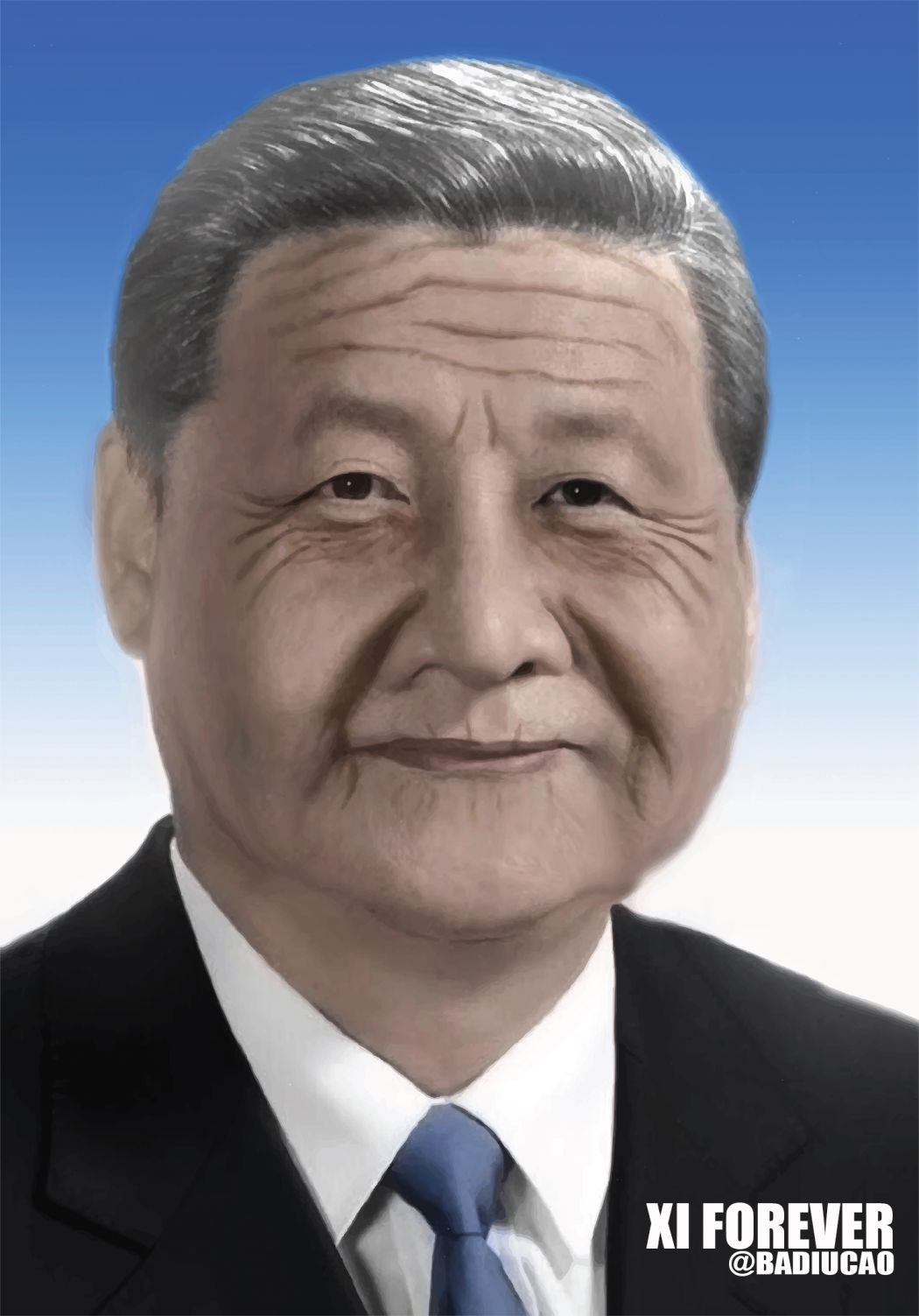old elderly xi jinping forever