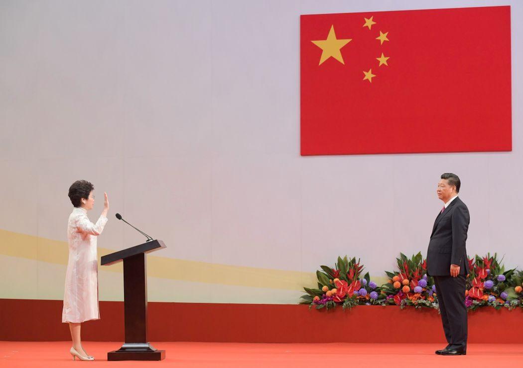 Carrie Lam Xi Jinping