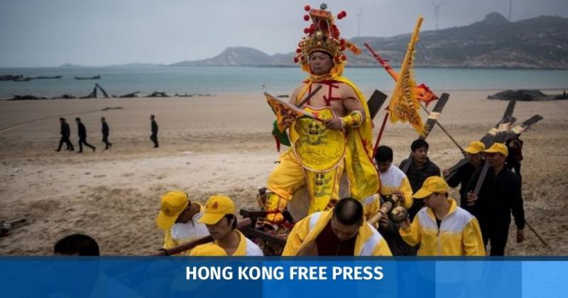 China Fujian Nanri island sea deity