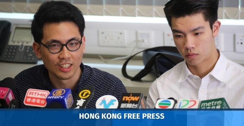 Andrew Chan and Lau Tsz-kei.