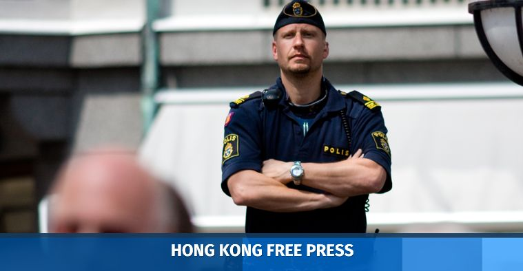 A Swedish police officer