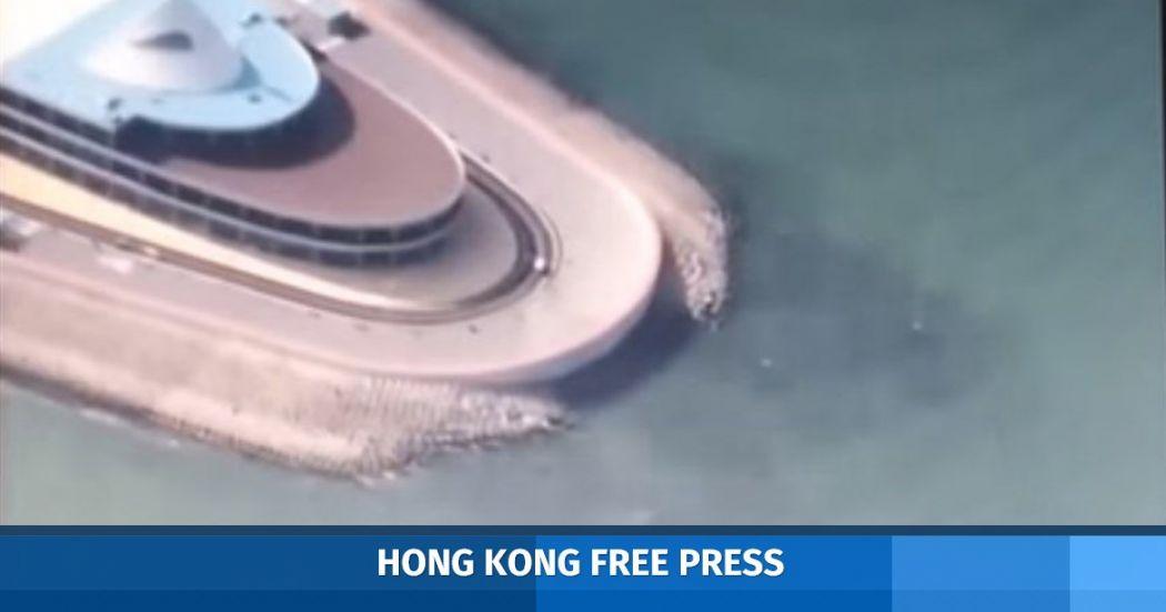 artificial island Hong Kong-Zhuhai-Macao Bridge