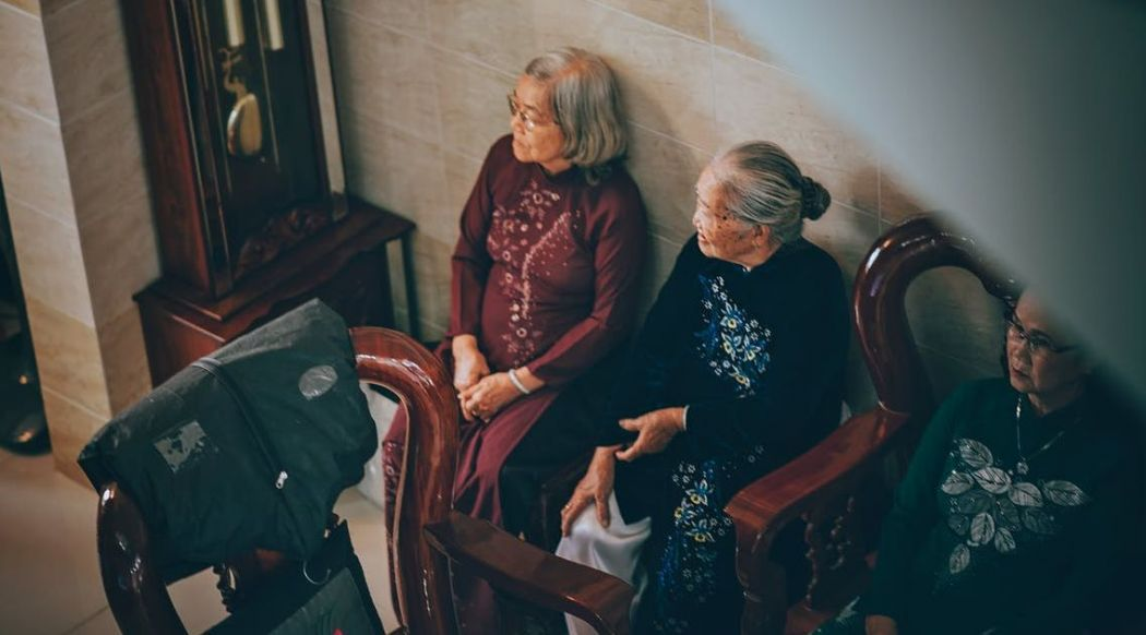 elderly chinese asian women woman