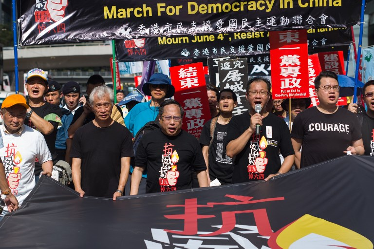 tiananamen massacre hong kong march