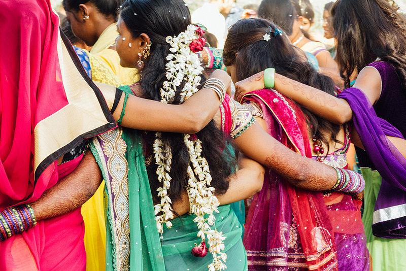 india wedding sari