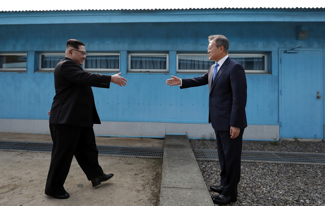 North Korea's Kim Jong-un and South Korea's Moon Jae-in