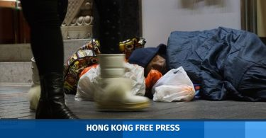 homeless man hong kong