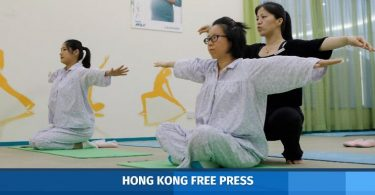 yoga exercises women china