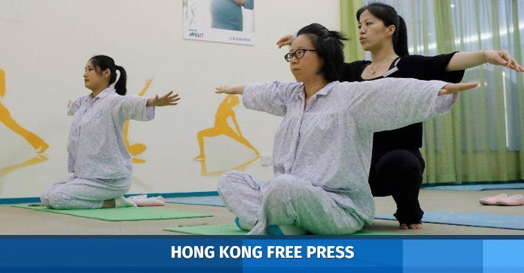 yoga exercises women china