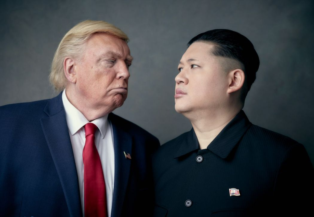Kim jong un and trump impersonators