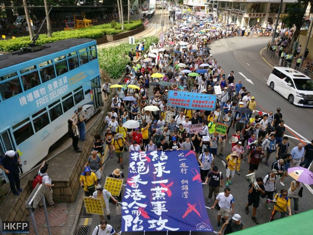 Thousands pro-democracy demonstrators march in Hong Kong