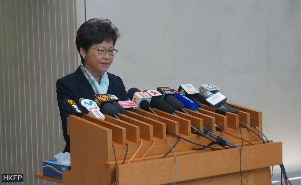 carrie lam press media