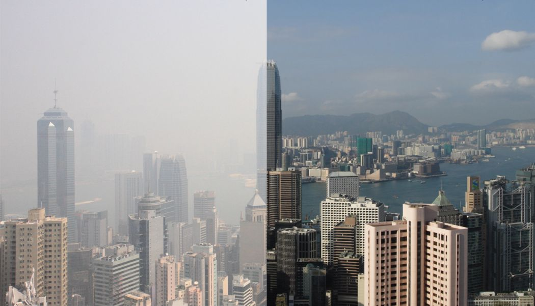 Hong Kong haze comparison
