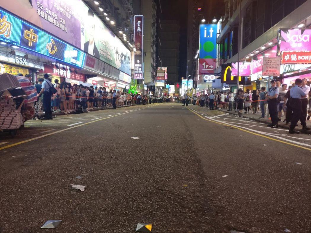 Mong Kok pedestrian zone cleared