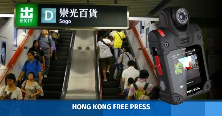 MTR staffers spotted wearing body cameras at Causeway Bay