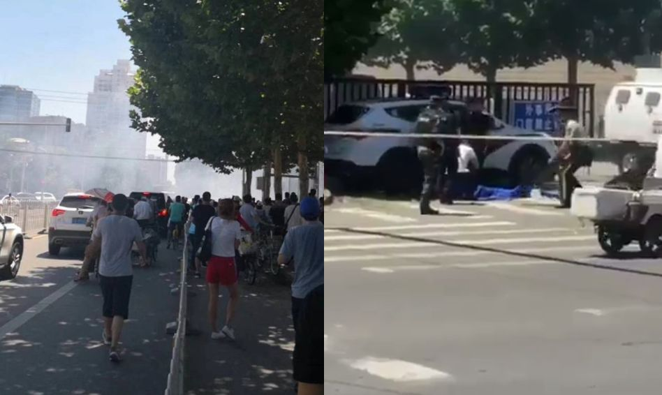 Explosion reported outside U.S. Embassy in Beijing