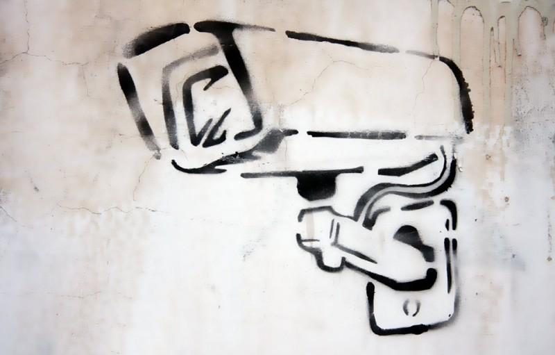 Graffiti surveillance camera