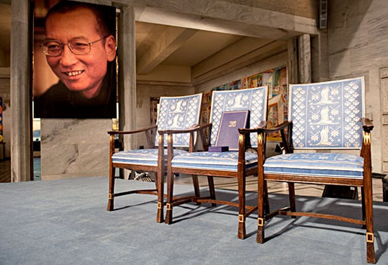 Liu Xiaobo Nobel empty chair