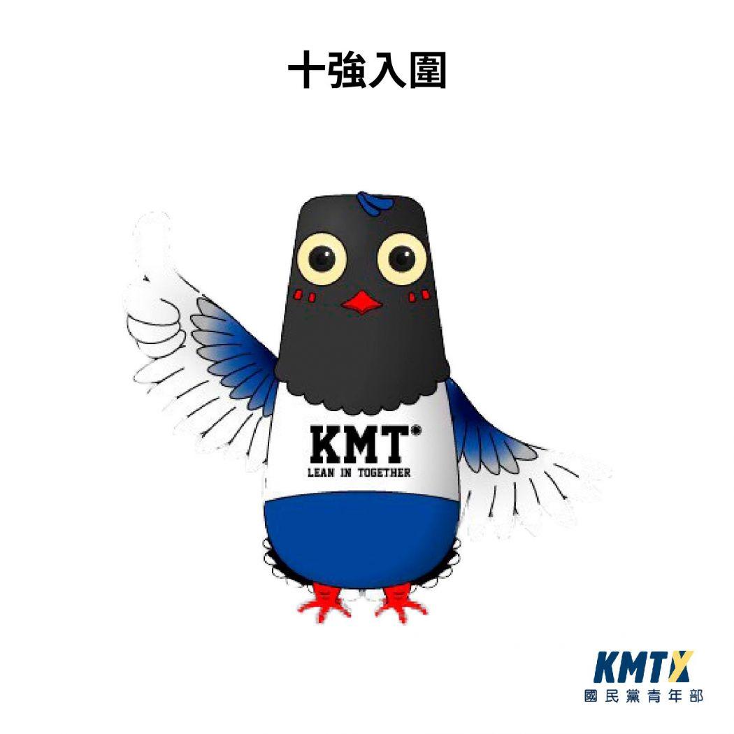 Taiwan blue magpie KMT mascot